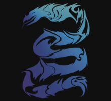 Sharp Blue Dragon  by Lotacats