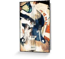 Double bass Jazz Poster Greeting Card