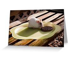 hamster tea break Greeting Card