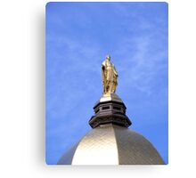 The Golden Dome and Statue of Mary Canvas Print