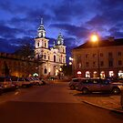 Church of the Holy Cross early evening - Warsaw, Poland by Lukasz Godlewski