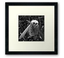 Stronghold - White Satin Moth Framed Print