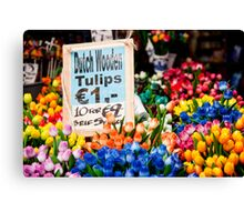 Dutch Wooden Tulips Canvas Print