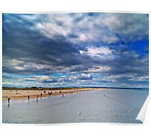 Summer Clouds At St.Andrews Beach, Scotland. Poster