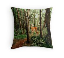 The Little Path Throw Pillow
