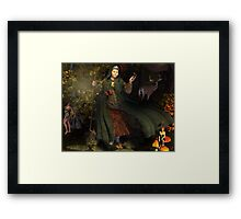 November, Seasons of the Witch: Spirit of the Forest Framed Print