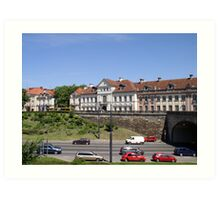 Trasa W-Z: tunnel under the Warsaw Old Town Art Print