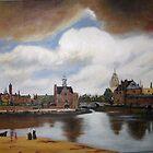 Thunder Over Delft  By Johannes Vermeer by Jsimone