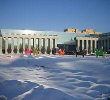 Supreme Court on Krasinski Square - Warsaw, Poland by Lukasz Godlewski