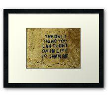 Concrete Wisdom Framed Print