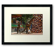 Quezon Memorial Circle: Circle of Fun dinosaurs 28 Framed Print