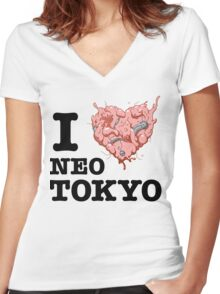 I Tetsuo Neo Tokyo Women's Fitted V-Neck T-Shirt