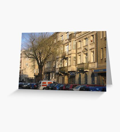 Narbutta street in Old Mokotow district of Warsaw, Poland Greeting Card