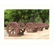 Quezon Memorial Circle benches 29 Art Print