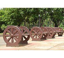 Quezon Memorial Circle benches 29 Photographic Print