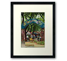 Quezon Memorial Circle: Circle of fun entrance 32 Framed Print
