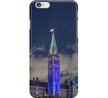 Canada's Parliament buildings at night - Ottawa, Canada iPhone Case/Skin