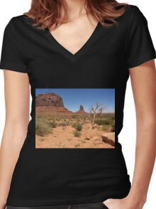 The Tree Hangs On Women's Fitted V-Neck T-Shirt