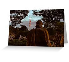 Korean War Memorial US Flag Lite Up Photo Greeting Card