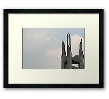 Quezon Memorial Circle monument details 40 Framed Print