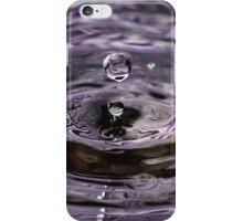 Purple Water Drop Photo iPhone Case/Skin