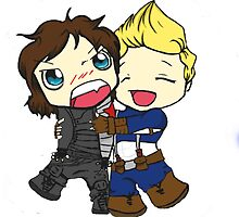 Bucky and Cap by ohcarinaoftime