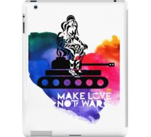 Make Love Not War Tank iPad Case/Skin