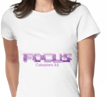 Purple Focus Womens Fitted T-Shirt
