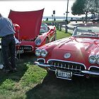 Retro Corvette Flanks a Classic 59 Vette at Oakland Beach by Jack McCabe