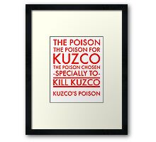 The Poison. in red Framed Print