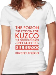 The Poison. in red Women's Fitted V-Neck T-Shirt