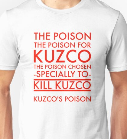 The Poison. in red Unisex T-Shirt