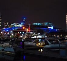 Melbourne at night - Docklands [r] by DavidsArt
