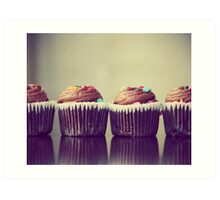 Cupcakes Lined Up Art Print