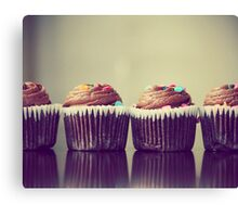 Cupcakes Lined Up Canvas Print