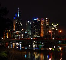 Melbourne at night 12 [r] by DavidsArt