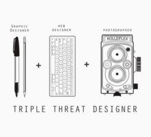 Triple Threat Designer Kids Tee