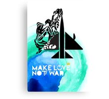 Make Love Not War Plane Canvas Print