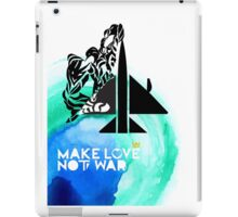 Make Love Not War Plane iPad Case/Skin