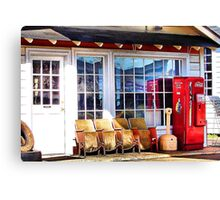 Billy Carter's Service Station Canvas Print