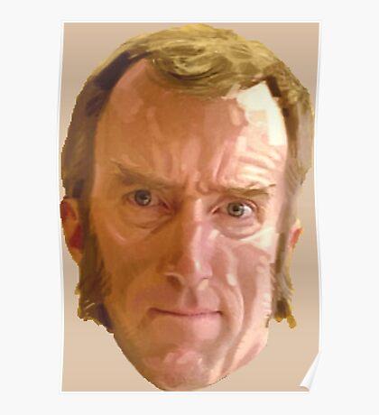 Portal 2 - Cave Johnson's Head Poster