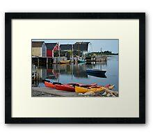 Blue Rocks Nova Scotia Canada Framed Print