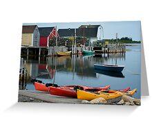 Blue Rocks Nova Scotia Canada Greeting Card
