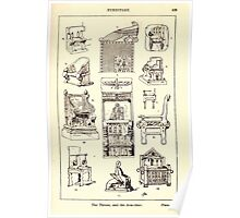 A Handbook Of Ornament With Three Hundred Plates Franz Sales Meyer 1896 0445 Furniture Throne Arm Chair Poster
