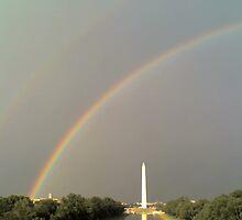 Double Rainbow over Washington DC, USA by hcorrigan