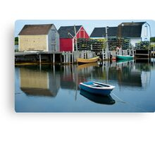 Blue Rocks Nova Scotia Canada Canvas Print