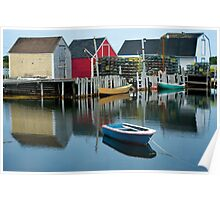 Blue Rocks Nova Scotia Canada Poster