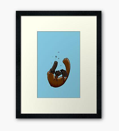 Playful Platypus Framed Print