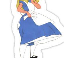 Alice in Wonderland (quote) Sticker