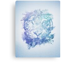 Abstract Watercolor Tiger Portrait / Face Canvas Print
